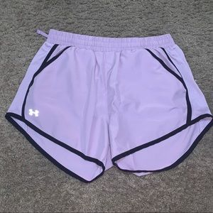 Under armour small purple shorts